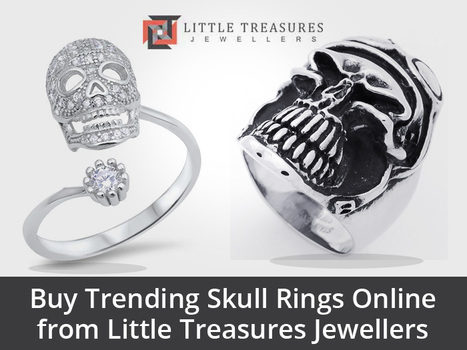 Choose from Little Treasures Jewellers' wide selection of original female and unisex skull rings online. We take pride in providing excellent quality products with free delivery on all orders UK wide!